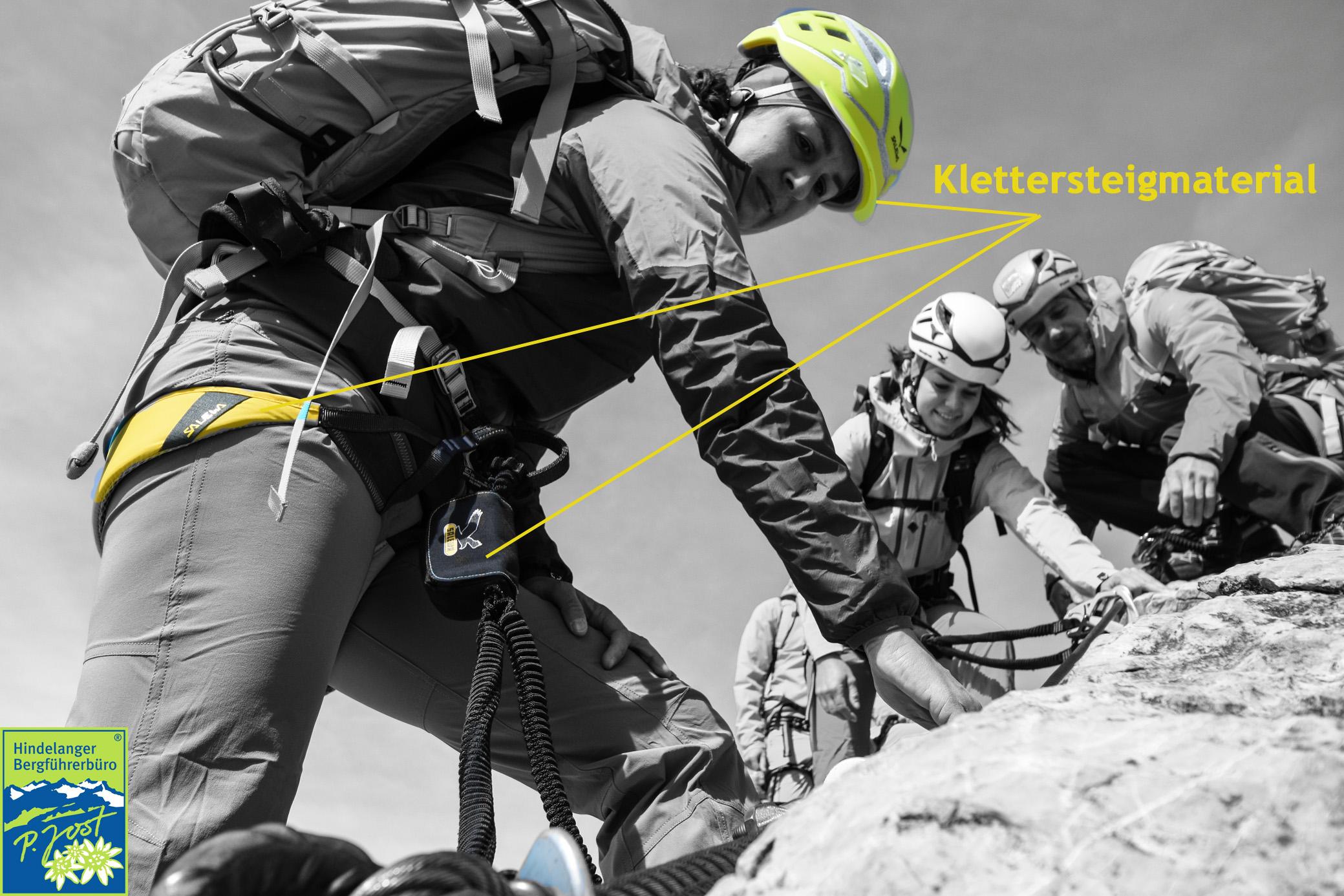 Klettersteigset Mit Gurt Verbinden : Sicherheit am klettersteig
