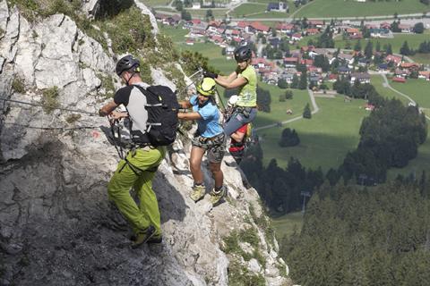 Klettersteig Allgäu : Klettersteige im allgäu tagesführungen bergschule hindelang